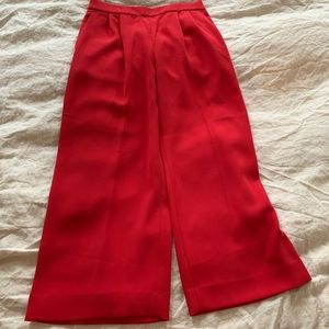 J.Crew Crepe Red Wide Leg Pants